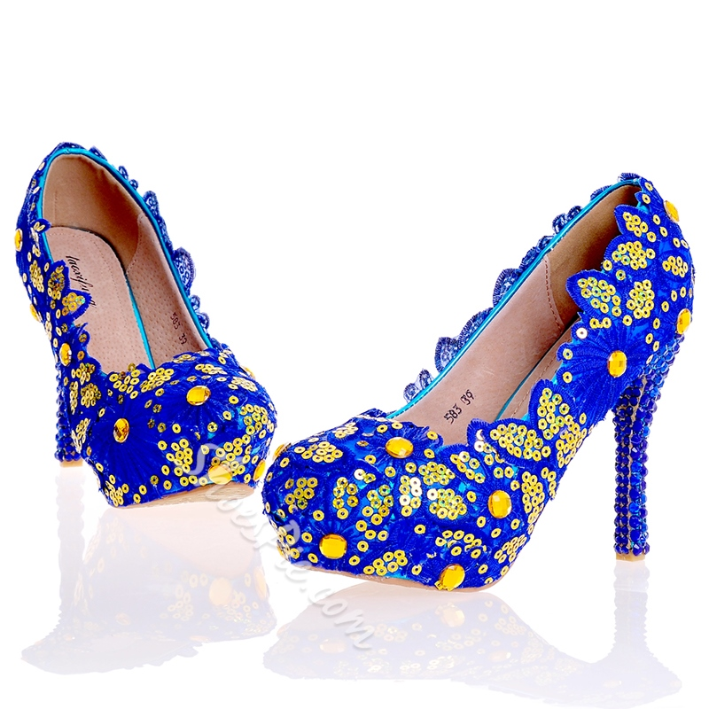Shoespie Sequins Ultra-High Heel Wedding Shoes