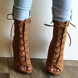 Shoespie Lace Up Sandal Booties
