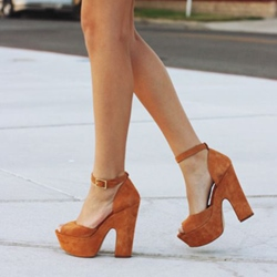 Shoespie Brown Peep Toe Sandals