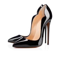 Shoespie Solid Color Wave Curve Stiletto Heels