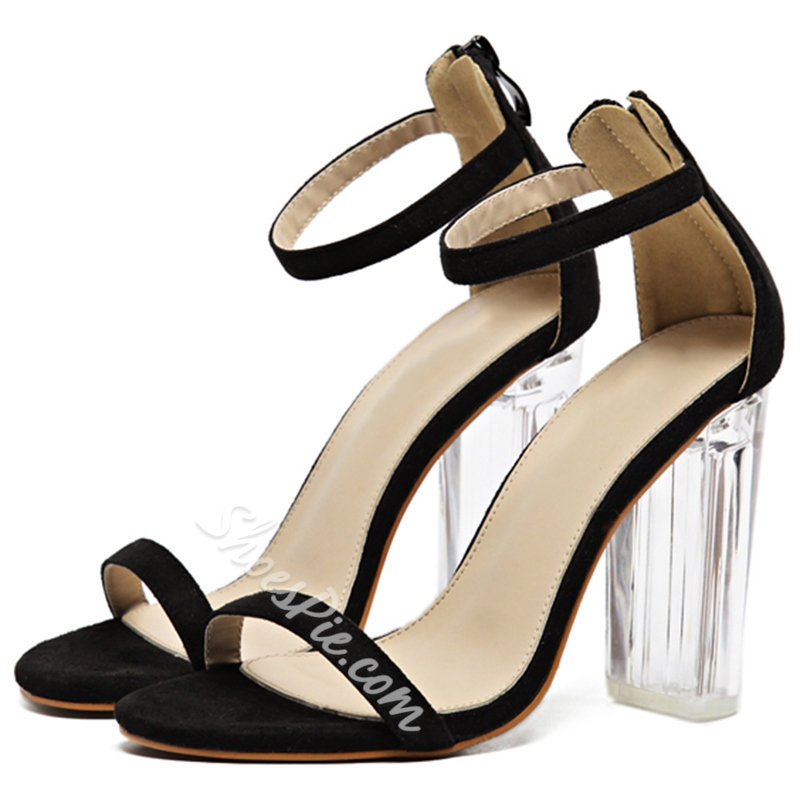 Shoespie Clear Heel Sandals