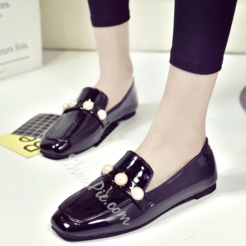 Shoespie Elegant Beaded Loafers