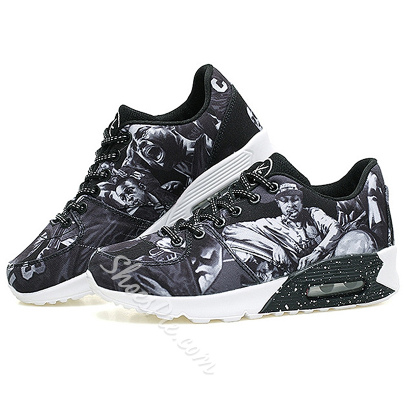 Shoespie Print Insole Men's Sneakers