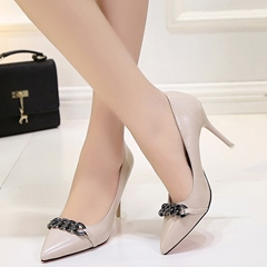 Shoespie Chic Chain Embellished Stiletto Heels