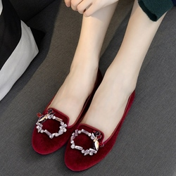 Shoespie Casual Buckle Aplliqued Loafers