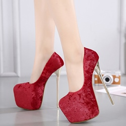 Shoespie Elegant Solid Color Platform Heels