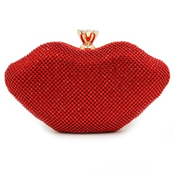 Shoespie Cute Sweet Mouth Shape Clutch Bag