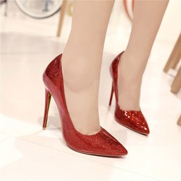 Shoespie Plain Pointed Toe Stiletto Heels