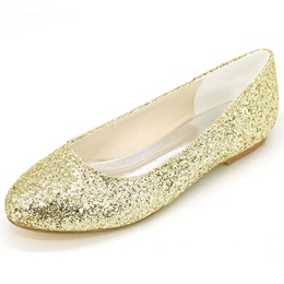Shoespie Casual Sequined Round Toe Loafers