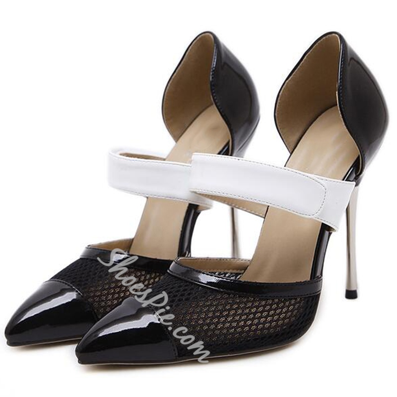 Shoespie Classy Two Tone Wear to Work Stiletto Heels