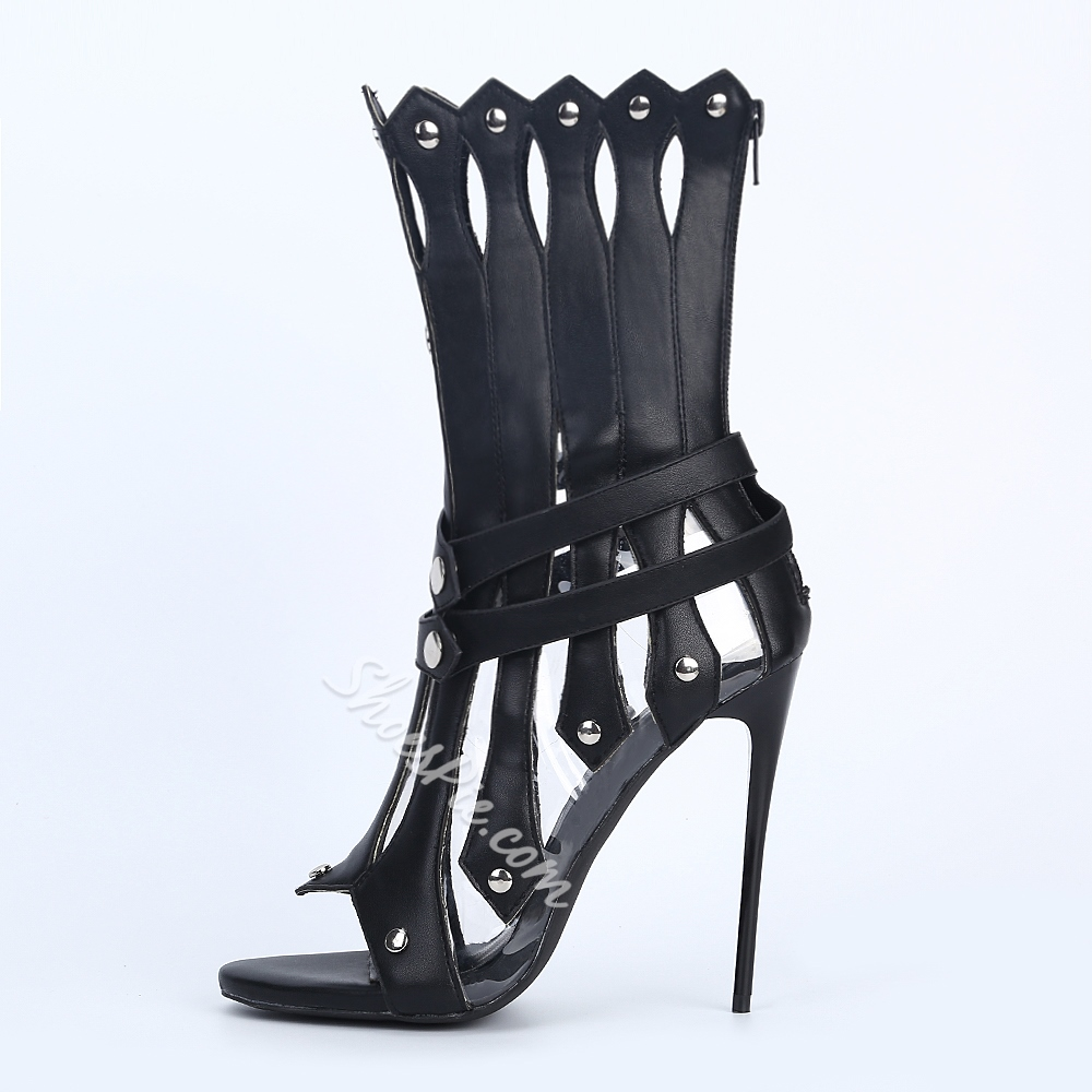 Shoespie Space Age Falbala Shape Stiletto Heel Dress Sandals