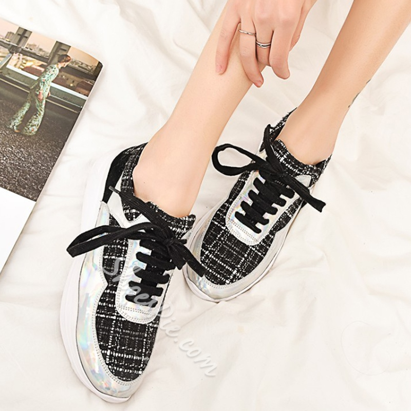 Shoespie Chic Lace Up Sneakers