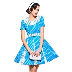 Shoespie Round Neck Short Sleeve Vintage Dress