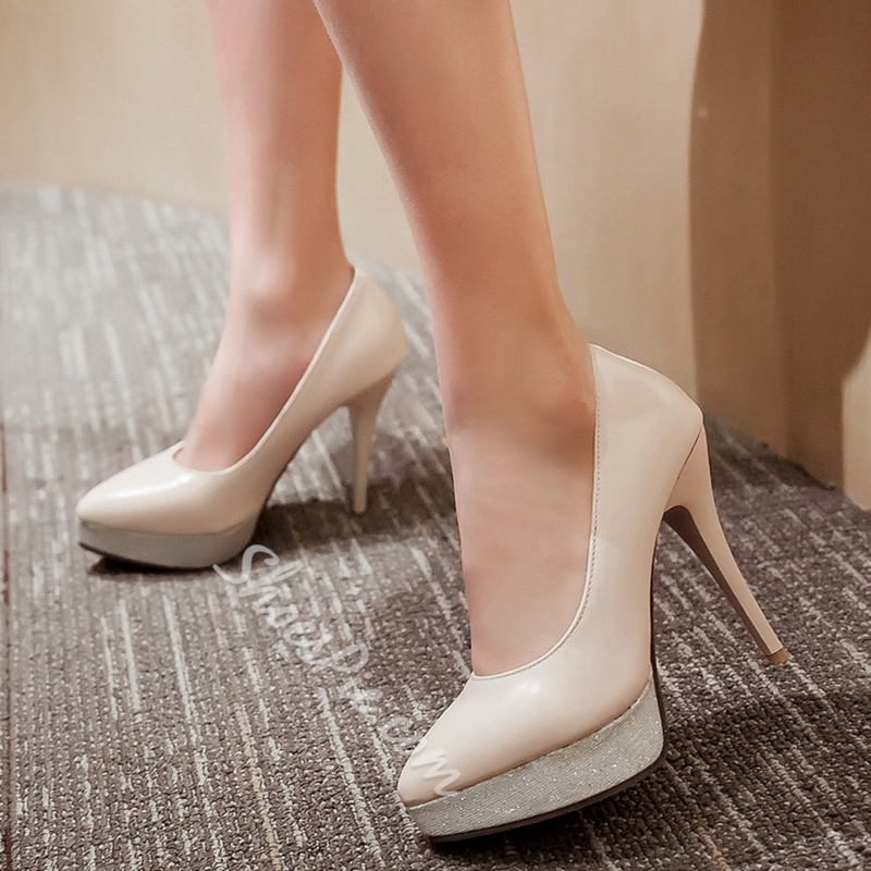 Shoespie Comfortable Plain Platform Heels