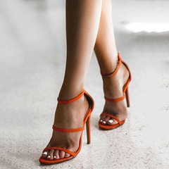 Shoespie Gorgeous Orange Red Banquet Dress Sandals
