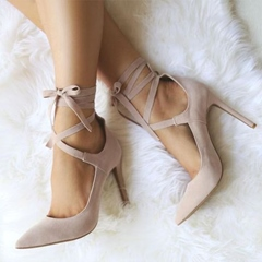 Shoespie Chic Nude Strappy Looks Stiletto Heels