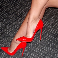Shoespie Sexy Red Pointed Toe Stiletto Heels