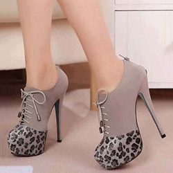 Shoespie Stylish Leopard Cap Toe Fashion Platform Booties