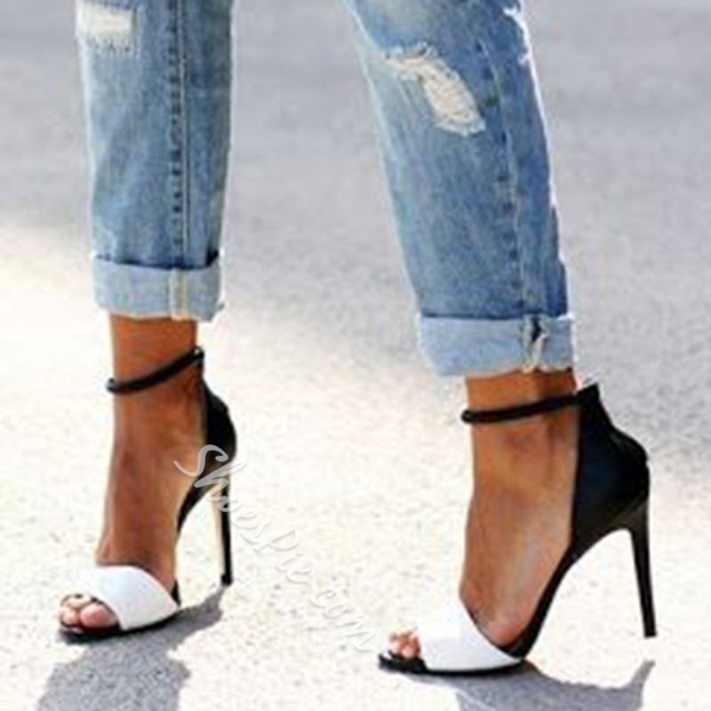 Shoespie Elegant Two Part Ankle Wrap Stiletto Heels