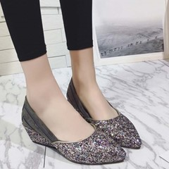 Shoespie Sparkle Comfortable Wedge Pumps