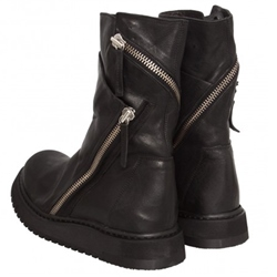 Shoespie Black Zippers Decorated Mid Calf Men's Boots