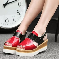 Shoespie Platform Flat Sandals