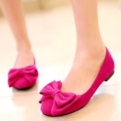 Shoespie Cute Bow Aplliqued Loafers