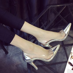 Shoespie Fashion Cap Toe Illusion Patchwork Stiletto Heels