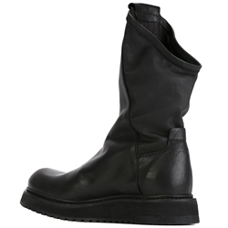 Shoespie Black Leather Men's Boots