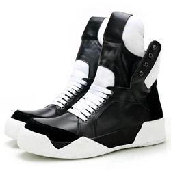 Shoespie Black and White Men's Sneakers
