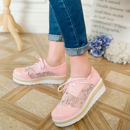 Shoespie Lace Decorated Casual Shoes