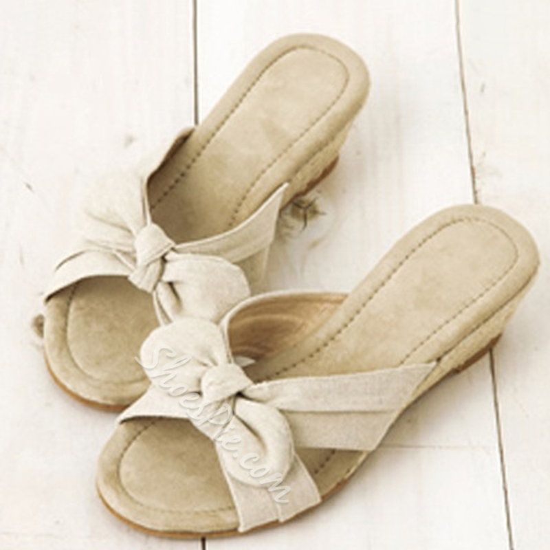 Shoespie Cute Bow Sunshine Beach Slippers