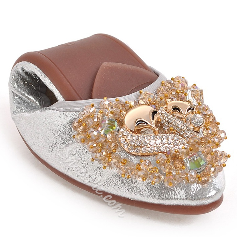 Shoespie Rhinestone Comfortable Loafers