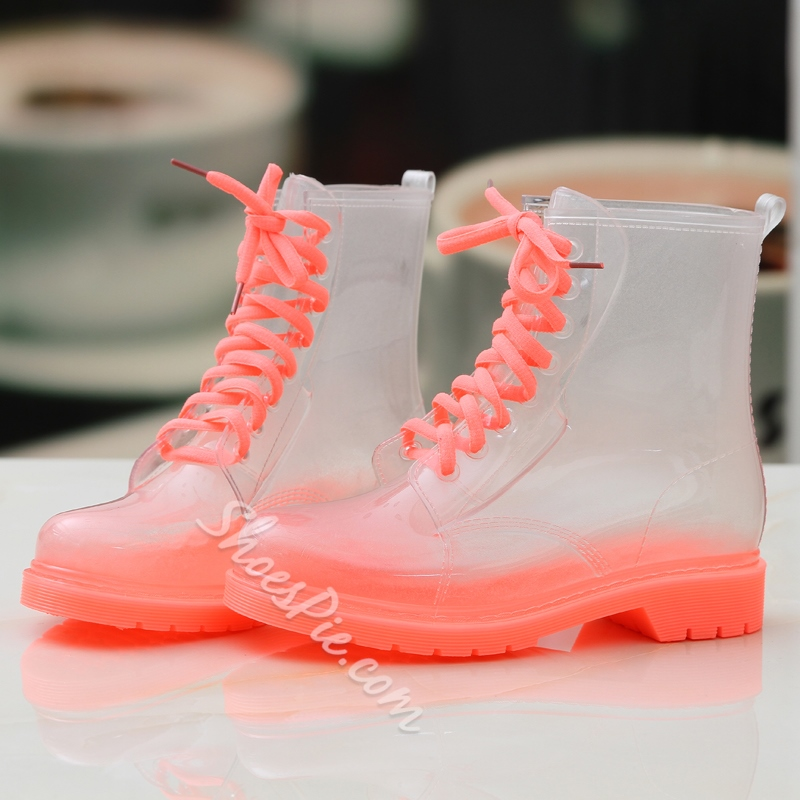 Shoespie Versatile Illusion Candy Color Waterproof Boots