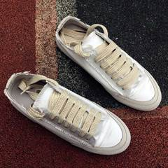 Shoespie Silky Lace Up Sneakers