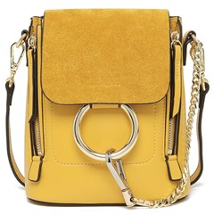 Shoespie Elegant Round Circle Chain Embellied Backpack