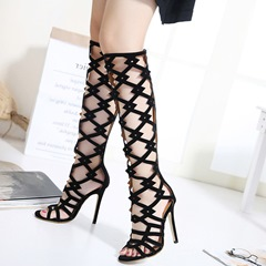 Shoespie Knee High Cage Sandals