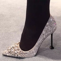 Shoespie Luxurious Allover Rhinestone Stiletto Bridal Shoes