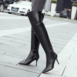 Shoespie Solid Multi Color Knee High Stiletto Boots