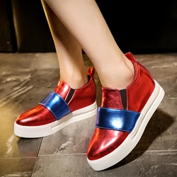 Shoespie Color Block Slip On Casuals