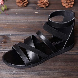 Shoespie Black Strappy Men's Sandals