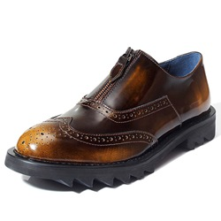Shoespie Multi Color Front Zipped Men's Oxfords