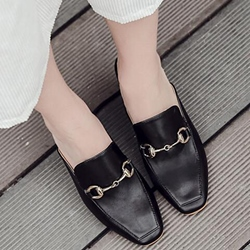 Shoespie Elegant Rectangular Toe Backless Mules Shoes