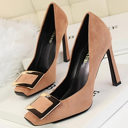 Shoespie Elegant Gaint Buckle Stiletto Pumps