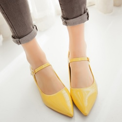 Shoespie Trendy Pointed Toe Mary Jane Pumps