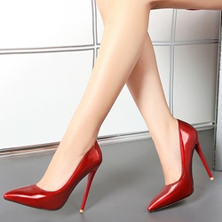 Shoespie Elegant Shine Leather Stiletto Heels