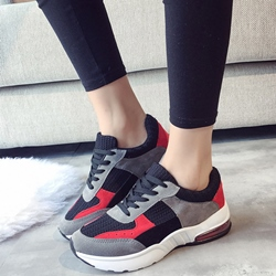 Shoespie Cute Girl Color Block Sneakers