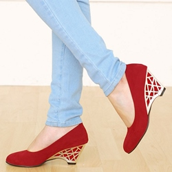 Shoespie Low-key Luxury Wedge Mid-heel Pumps