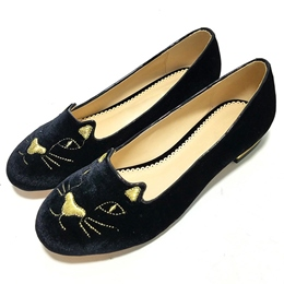 Shoespie Cute Comfortable Cat Shape Loafers