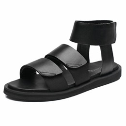 Shoespie Black Men's Roman Sandals